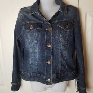 Dept 222 Denim Jean Jacket Size 8P